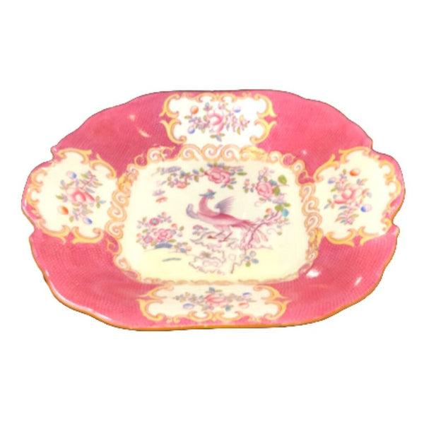 Minton Pink and White Serving Bowl