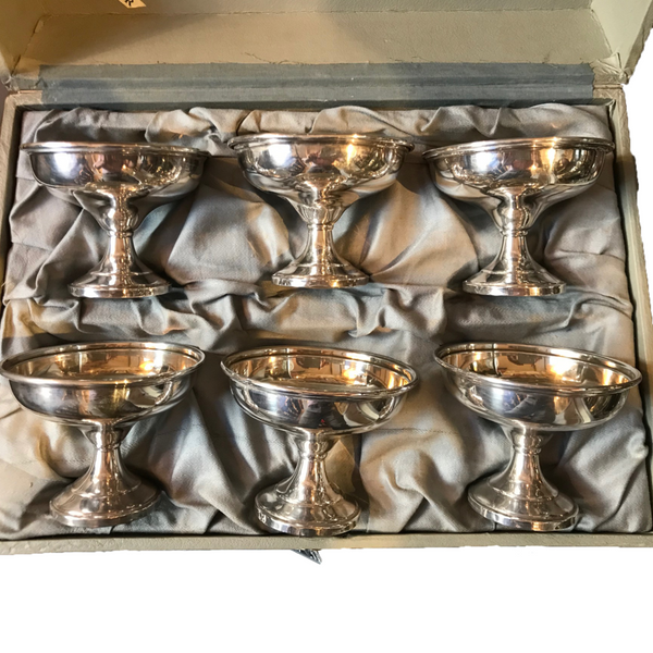 Fred Hirsh Sterling Sherbet Cups, 6