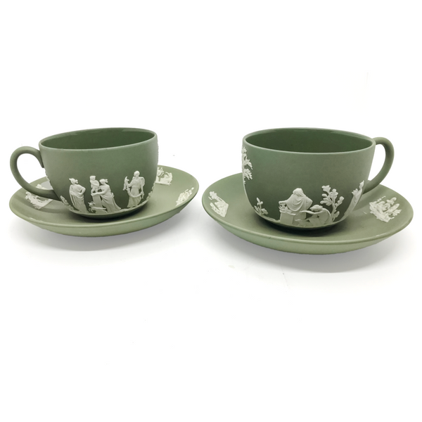Wedgwood Jasperware Cup and Saucer, Pair