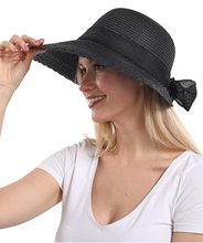 Load image into Gallery viewer, Elegant Wide Brim Floppy Sun Hat, Beach Hat for Women