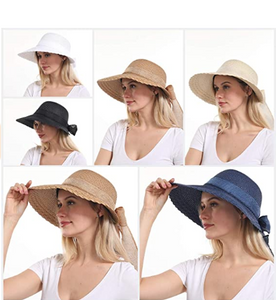 Elegant Wide Brim Floppy Sun Hat, Beach Hat for Women