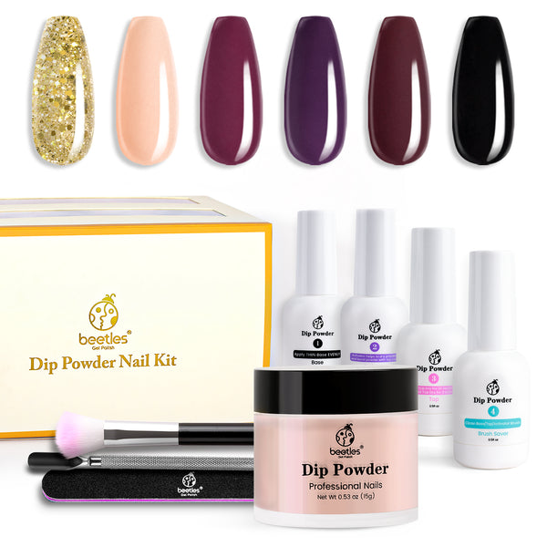 Dip Powder Nails Kit #017 | Full Maroon