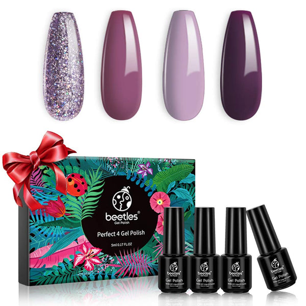 Gel Polish 4 Colors Set | Sugar Plum