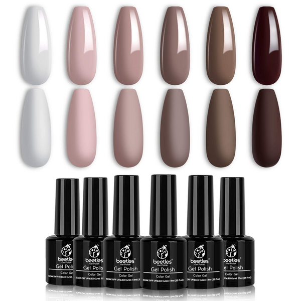 Gel Polish 6 Colors Set | Coffee Cafe