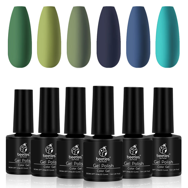 Beetles Gel Polish 6 Colors Set | Winter Green