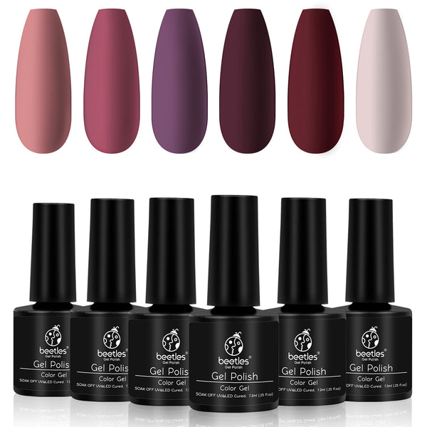 Gel Polish 6 Colors Set | Rose Petals