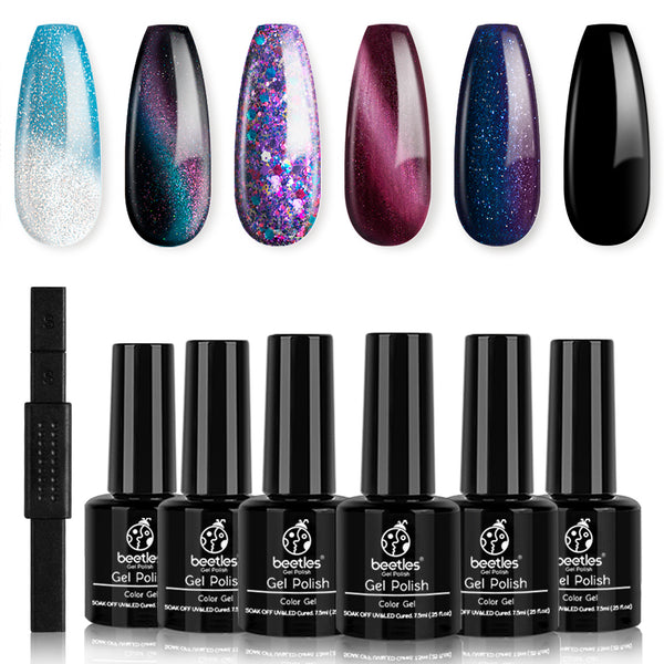 Gel Polish 6 Colors Set | Milky Way