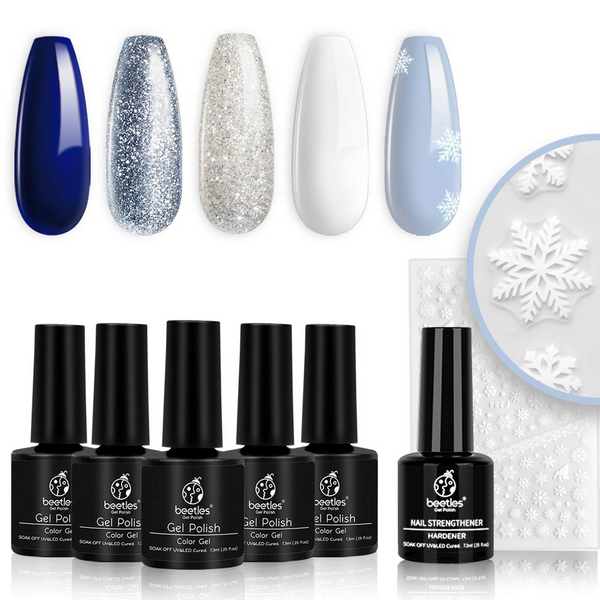 Gel Polish 6 Colors Set | Sparkling Snow