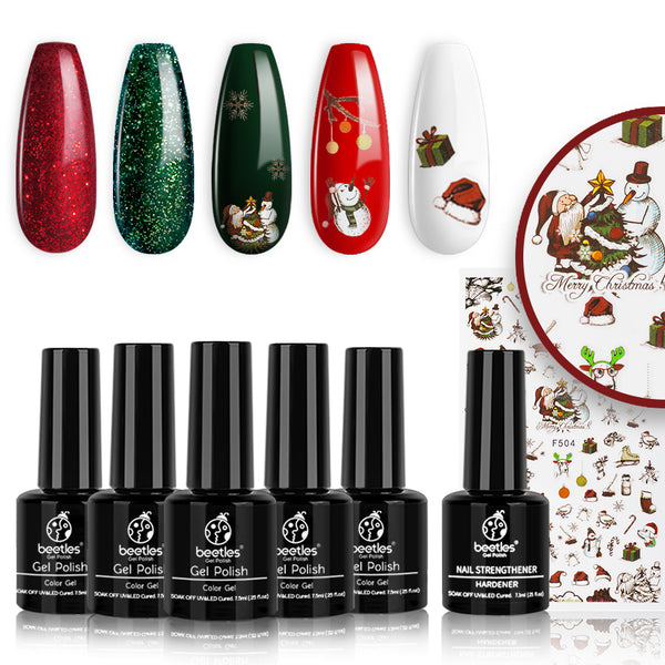 Gel Polish 6 Colors Set | Happy Holidays