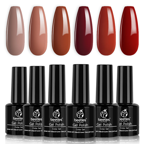 Gel Polish 6 Colors Set | Caramel Collection