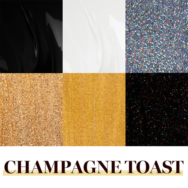 Gel Polish 6 Colors Set | Champagne Toast