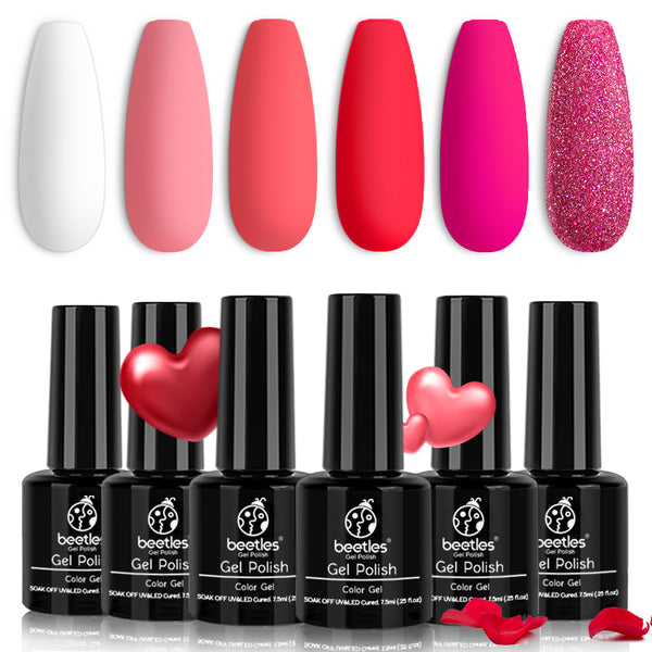 Gel Polish 6 Colors Set | Pink Flamingo
