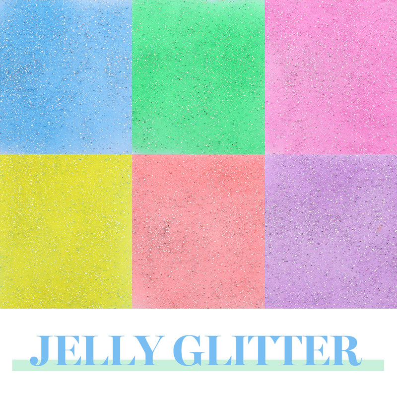 Gel Polish 6 Colors Set | Jelly Glitter