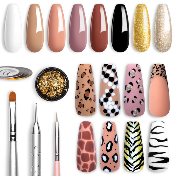 Beetles Gel Polish Leopard Nail Kit
