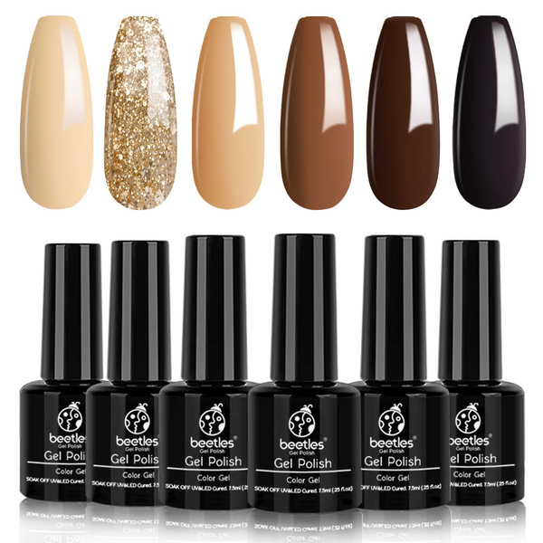 Gel Polish 6 Colors Set | Roasted Chestnuts