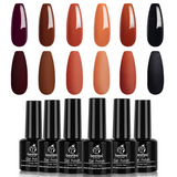 Gel Polish 6 Colors Set | Fall Wedding