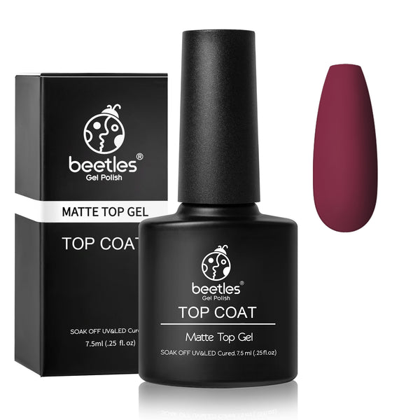 Beetles Matte Top Coat No Wipe Nail Gel