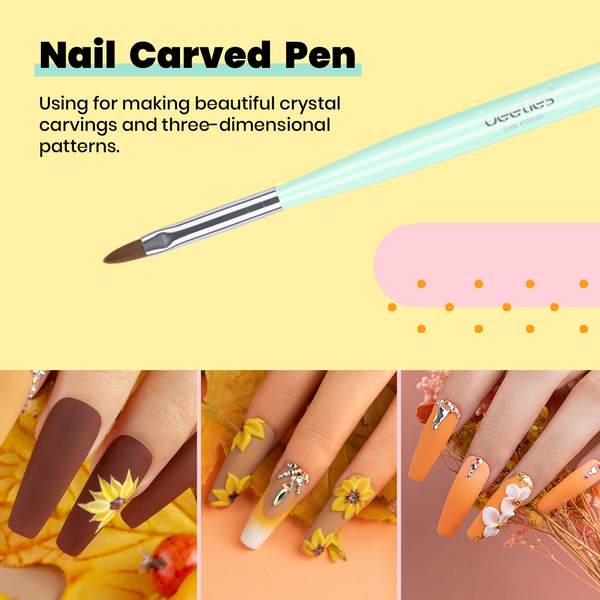 Nail Brushes Set Full Art Pen Accessories