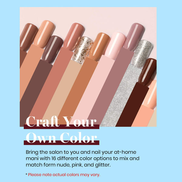 Gel Polish 16 Colors Set | Bare Collection