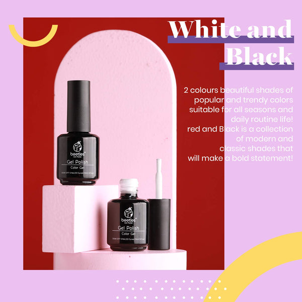 Beetles Gel Polish Set | Black & White