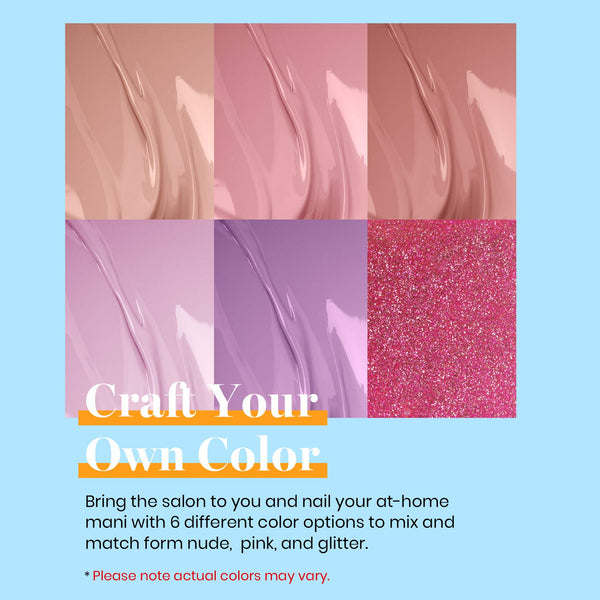 Gel Polish 6 Colors Set | Blushed Pink