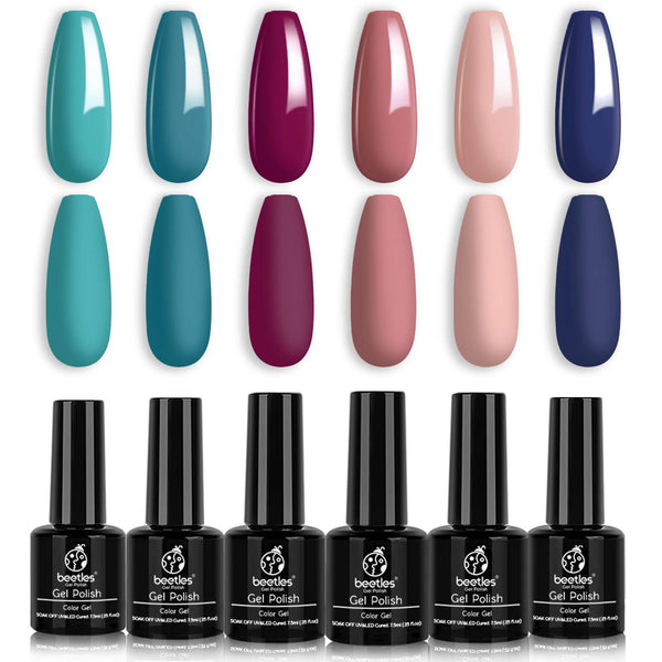 Gel Polish 6 Colors Set | Blueberry Tart