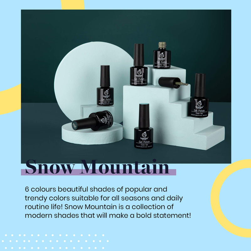 Gel Polish 6 Colors Set | Snow Mountain