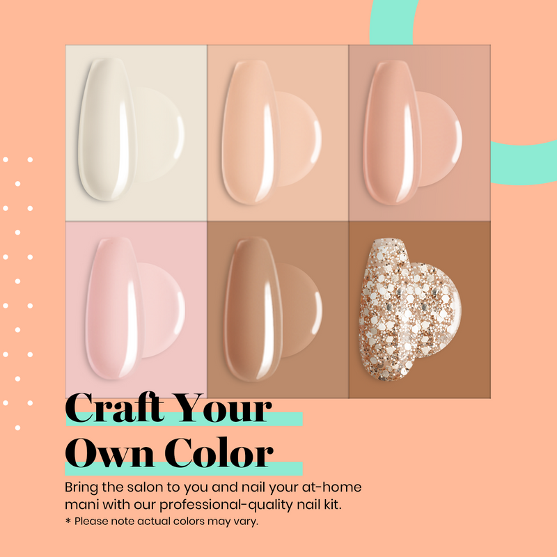 Dip Powder Nails Kit #119 | Nude Set