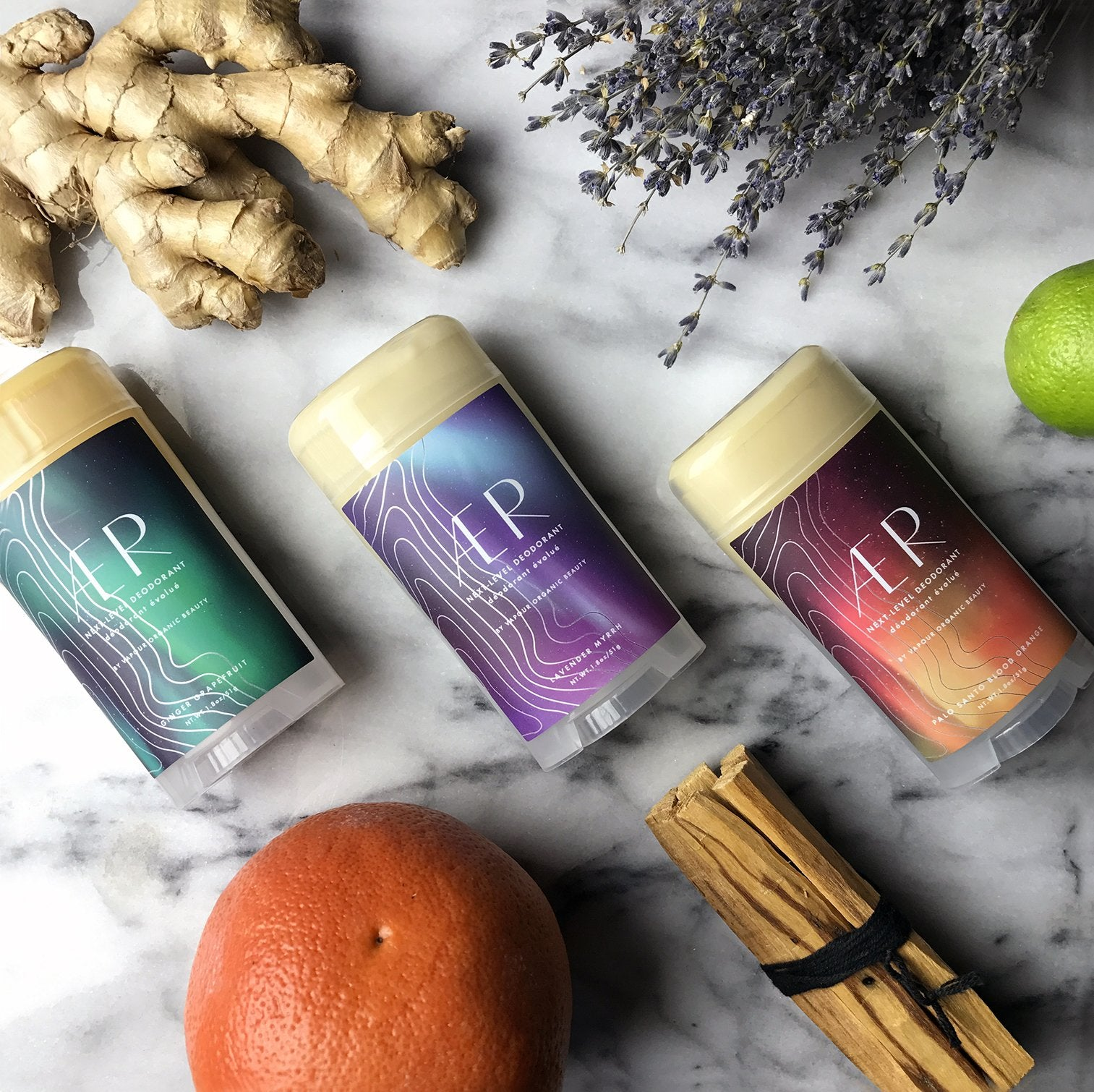 AER Next-Level Deodorant - Palo Santo Blood Orange