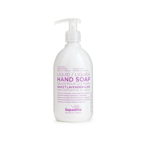 Sapadilla Hand Soap in Lavender & Lime