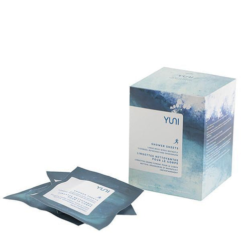 Yuni Biodegradable Shower Sheets 12 Pack