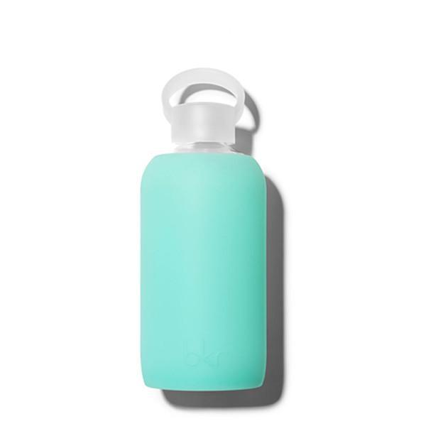 bkr 500mL Glass Water Bottle Holiday (Sheer Vacation Blue)