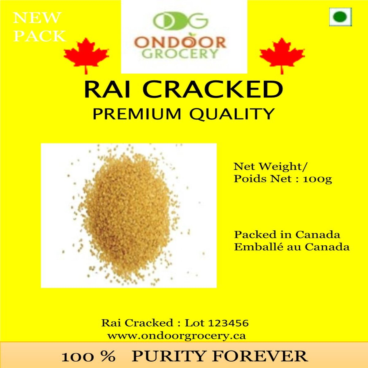 Ondoor Rai/Mustard Cracked (Methi) 100gm
