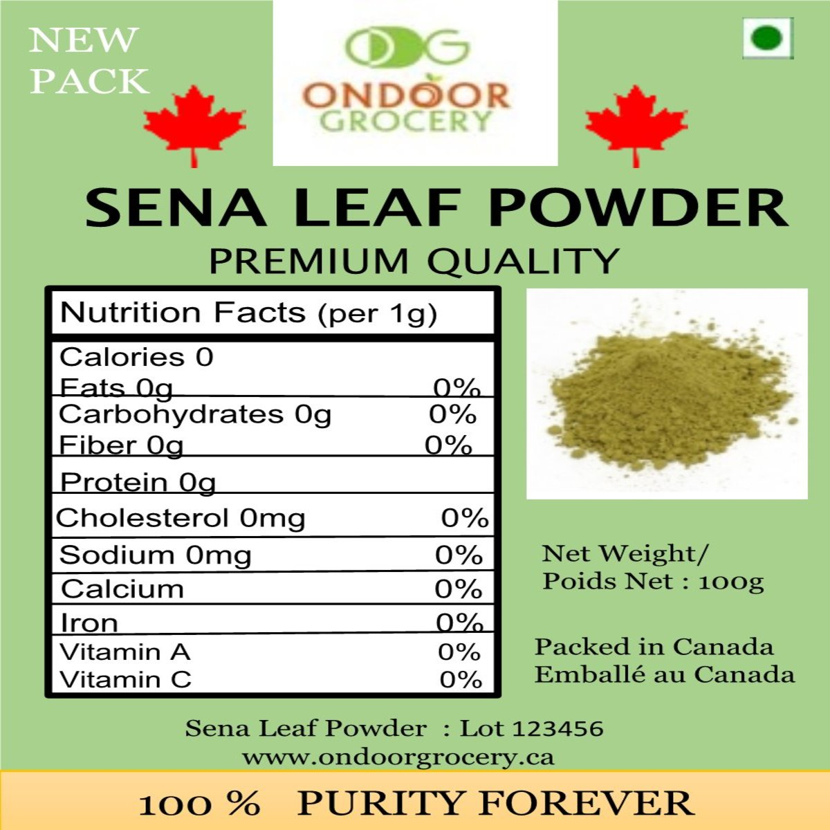 Ondoor Sena Leaf Powder 100g