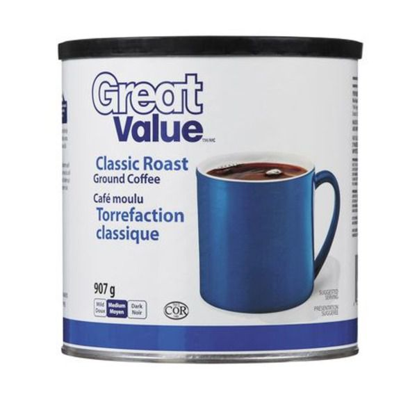 Great Value Roast Ground Coffee 907g