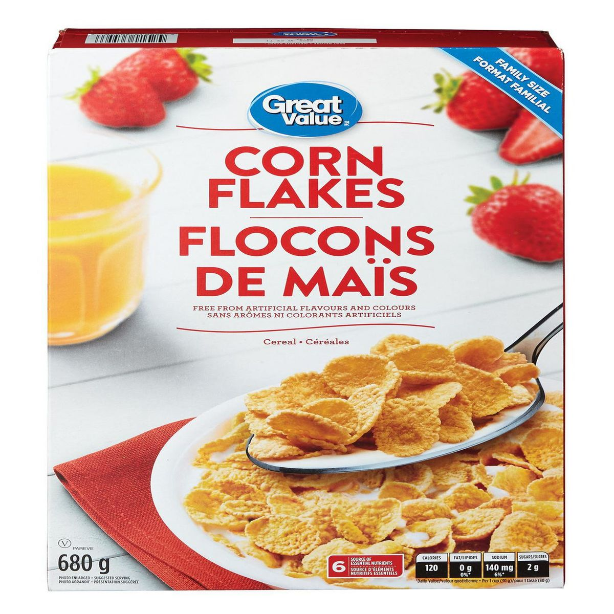 Great Value Corn Flakes 680g