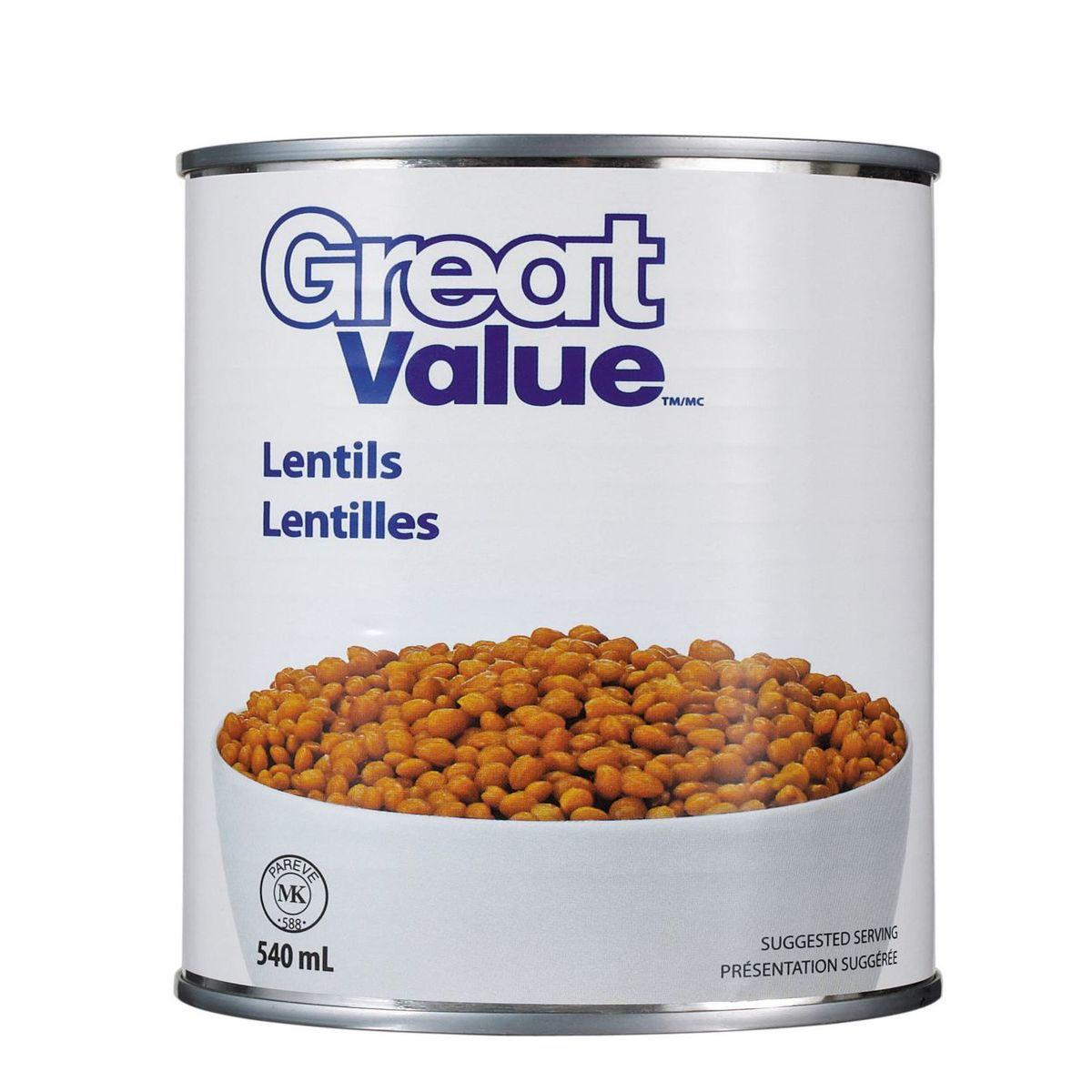 Great Value Lentils 540ml