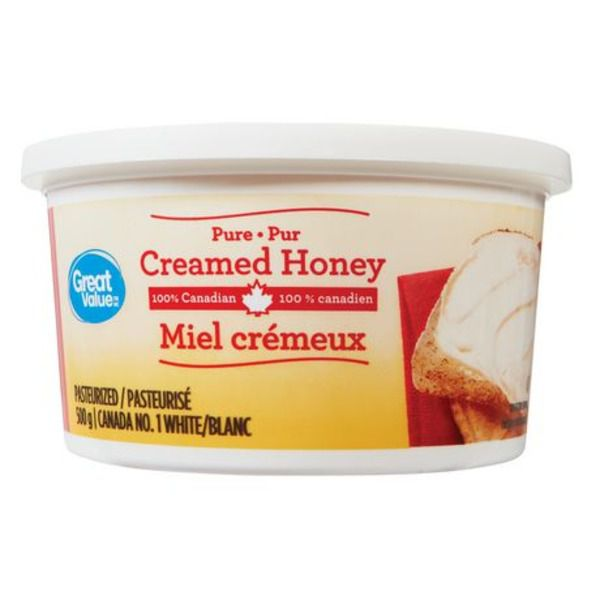 Great Value Pasteurized Pure Creamed  Honey 500g