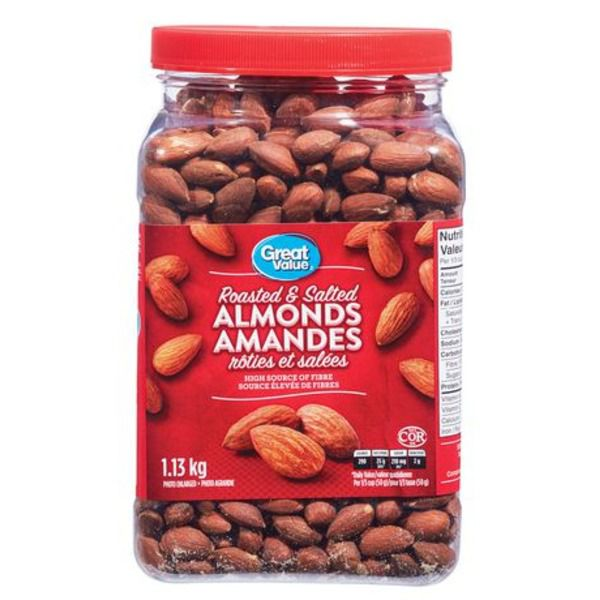 Great Value Roasted & Salted Almonds 1.13kg