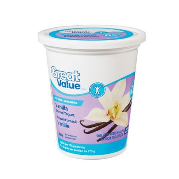 Great Value Vanilla Stirred Yogurt 650g