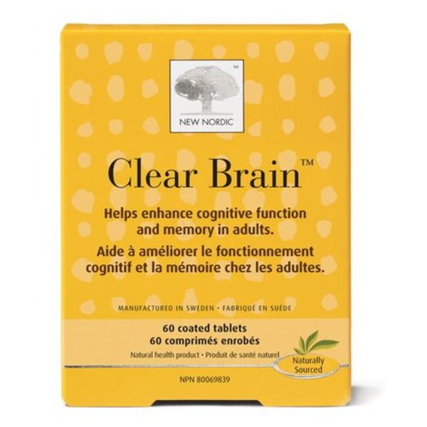 New Nordic Clear Brain 60ct
