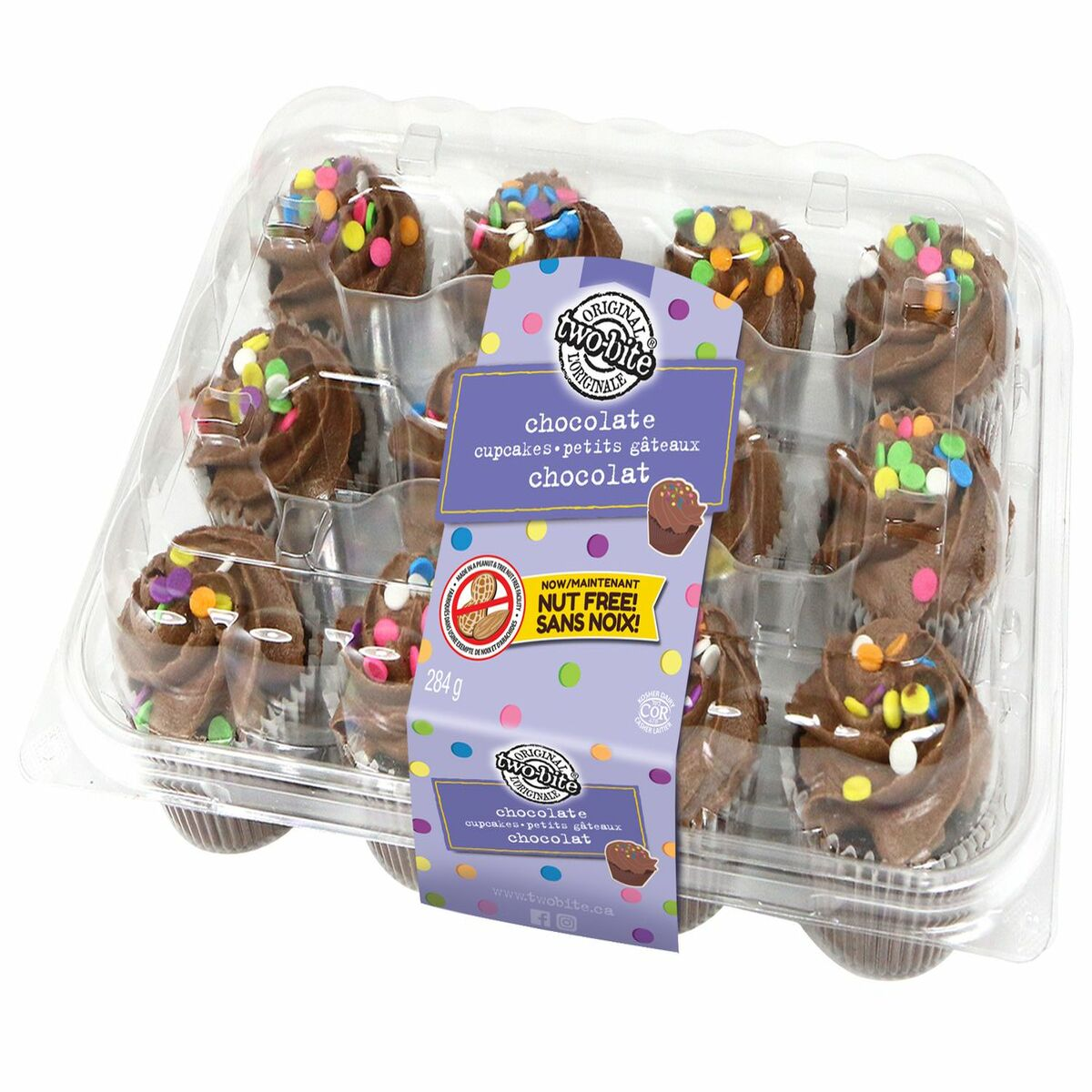 Two Bite Chocolate Cupcakes 12ct 284g