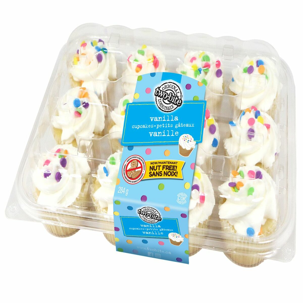 Two Bite Vanilla Cupcakes 12ct 284g