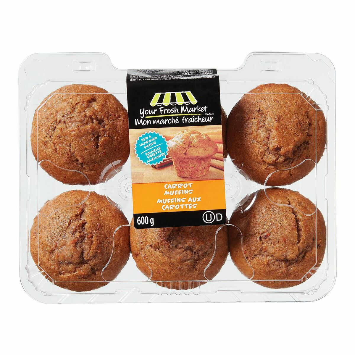 Your Fresh Market Carrot Muffins 600g