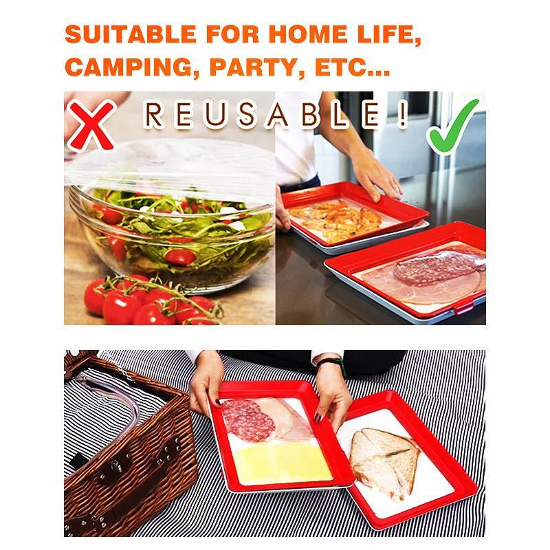 75% OFF) Rectangle Food Preservation Tray – aquident