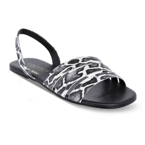 Sandalia Animal Print Negro Coconut