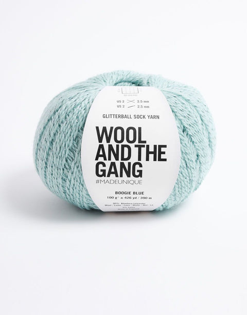 Wool and the Gang Glitter Ball Sockenwolle Boogie Blue