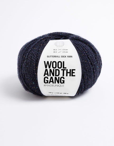 Wool and the Gang Glitter Ball Sockenwolle Night Fever Navy