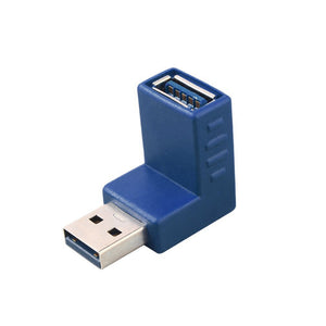 Right Angle USB 3.0 Type A Male to Female Plug