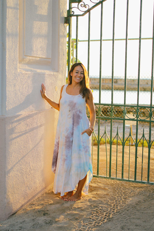 Cloud Dye Maxi Dress